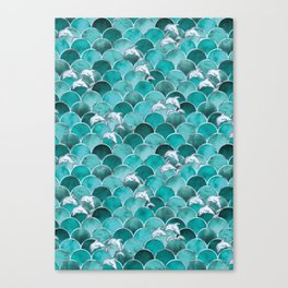 Wave Jumpers (Turquoise) Canvas Print