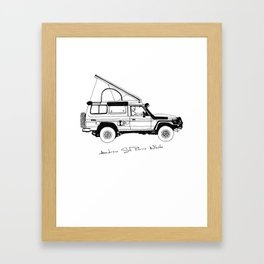 Limted Edition 4xOverland Troopy Framed Art Print