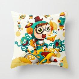 The Cosmos cop Throw Pillow