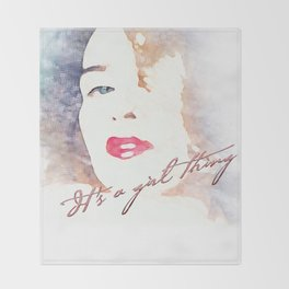 It's a girl thing  Throw Blanket