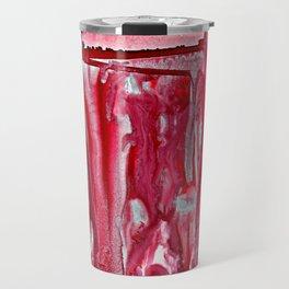 Crimson Winter Landscape Travel Mug