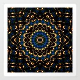Streams Light Mandala Art Print