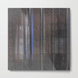 Lakeside, Dark Quiet Reflections Metal Print
