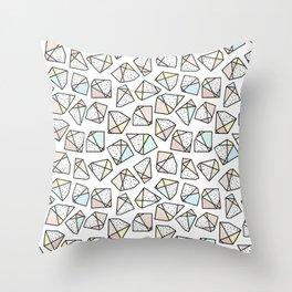 Polygonal stones and gemstones Throw Pillow