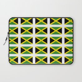 Flag of Jamaica 2-Jamaican,Bob Marley,Reggae,rastafari,cannabis,ganja,america,south america,ragga Laptop Sleeve