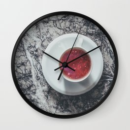 COFFEE PORTAL TO THE UNIVERSE Wall Clock