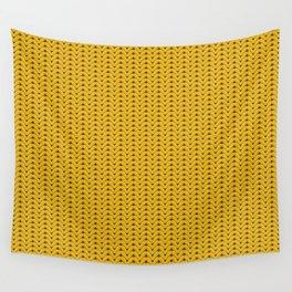 Yellow sweater pattern Wall Tapestry