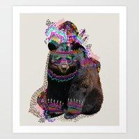 la Art Prints featuring Ohkwari  by Kris Tate