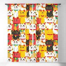 Japanese Lucky Cat Beckoning Cat Maneki-Neko Health And Wealth Blackout Curtain