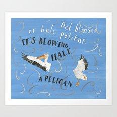 Half a Pelican Art Print