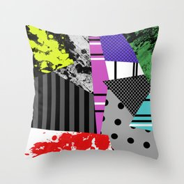 Pick A pattern II - geometric, textured, colourful, splatter, stripes, marble, polka dot, grid Throw Pillow