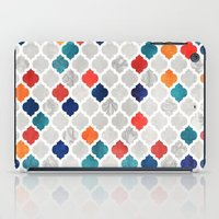spice iPad Cases featuring Sea & Spice Moroccan Pattern by micklyn