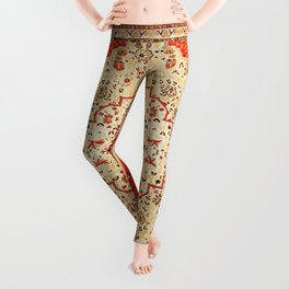 Mohtasham Kashan Antique Persian Rug Print Leggings