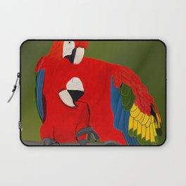 jz.birds Scarlet Macaw Bird Design Laptop Sleeve