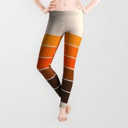 Golden Spring Stripes Leggings