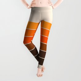 Golden Spring Stripes Leggings