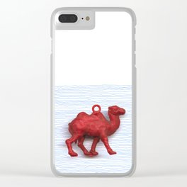 Genetically challenged camel trying to cross the blue mirage Clear iPhone Case