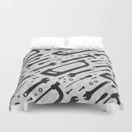 Tools Pattern Duvet Cover