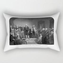 Washington Delivering His Inaugural Address Rectangular Pillow