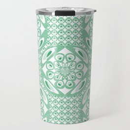 Mint green pattern Travel Mug
