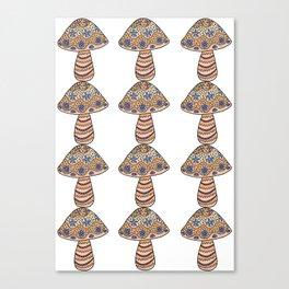 Many Many Mushrooms (2) Canvas Print