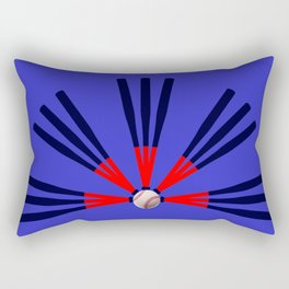 Baseball Bat and Ball Design Rectangular Pillow