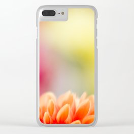 Orange Dahlia Clear iPhone Case