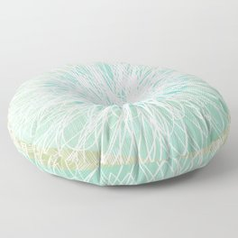 Doodle Flowers in Mint by Friztin Floor Pillow