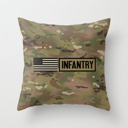 Infantry (Camo) Throw Pillow