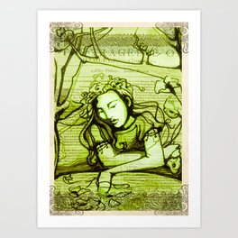 Romantic Ophelia Art Print