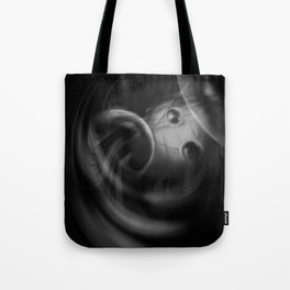 Abstract - Black and White Tote Bag
