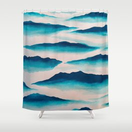 Clouded Shower Curtain