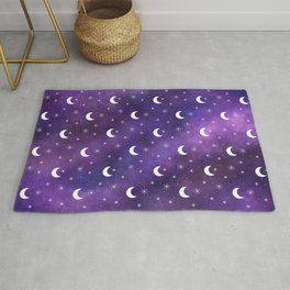Space Galaxy (Moon and Stars) Rug