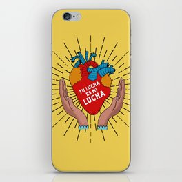 Tu Lucha Es Mi Lucha (Open Hands) iPhone Skin