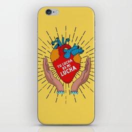 Tu Lucha Es Mi Lucha (Open Hands) iPhone Skin