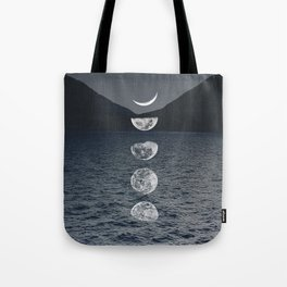 Moon Phases by Night Tote Bag