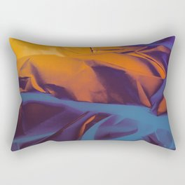 Orange, Purple and Blue Abstract. Mixed Media. Rectangular Pillow