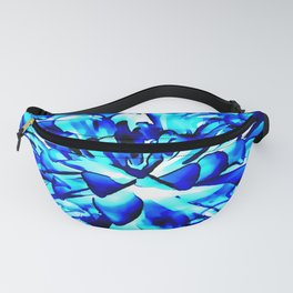 Painterly Ocean Blue Floral Abstract Fanny Pack