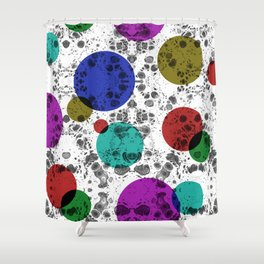 Holi Bubbles Shower Curtain