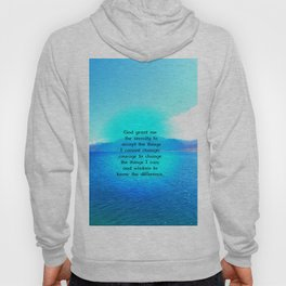Serenity Prayer With Blue Ocean and Amazing Sky Hoody