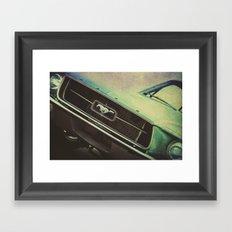 Galaxy Mustang Framed Art Print