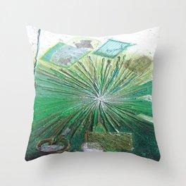 GREEN LIGHT by Elena Raimondi Throw Pillow