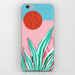 Freakin' - memphis throwback style palm springs neon art print 1980s vintage desert road trippin iPhone Skin