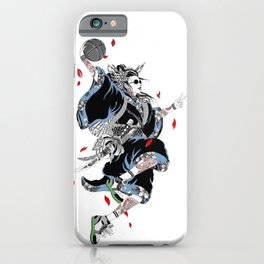 Japanese Illustration Geisha Popart Illustration Basketball Style  iPhone Case