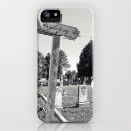 Cemetery#3 iPhone Case