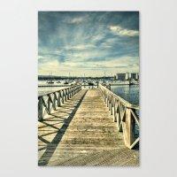 boardwalk empire Canvas Prints featuring Boardwalk by Steve Purnell