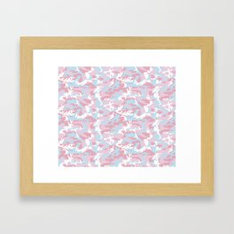 Pink Candy Camouflage Pattern Framed Art Print