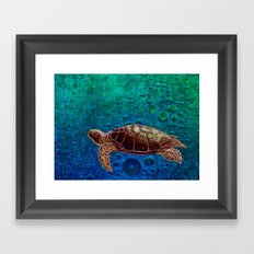 Turtle Patience Framed Art Print