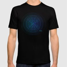 SoundWaves Teal/Indigo Black Mens Fitted Tee MEDIUM