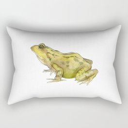 Green Common Frog Rectangular Pillow